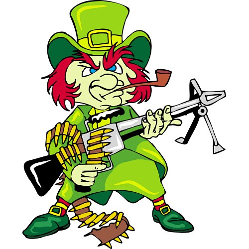 Leprechaun with an MG